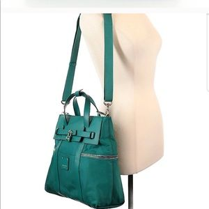 Henri Bendel teal convertible backpack